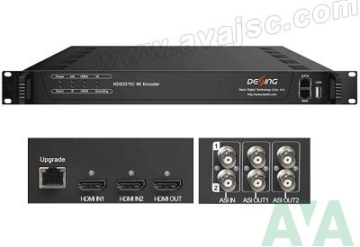 Bộ thiết bị mã hóa ghép kênh 4K 2HDMI hỗ trợ H.265 HEVC H.264 AVC