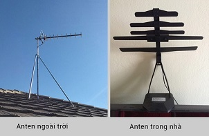 Nên sử dụng Anten trong nhà hay Anten ngoài trời?